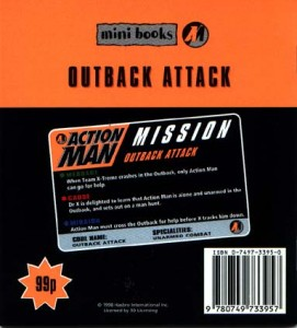 Action Man Outback Attack Back Cover