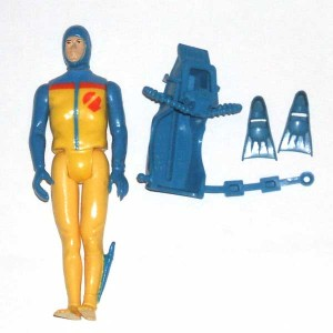 Action Force Q Force Shark Action Figure and Accessories