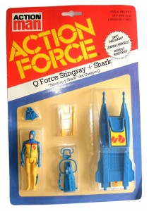 Action Force Q Force Stingray and Shark Card Front
