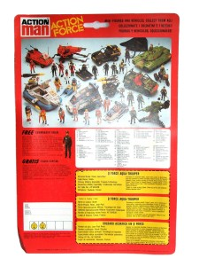 Action Force Q Force Stingray and Shark Card Back