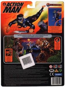 Action Man Sub Aqua Back Card Art