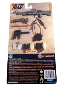 Action Man Night Creeper Accessory Set Card Back
